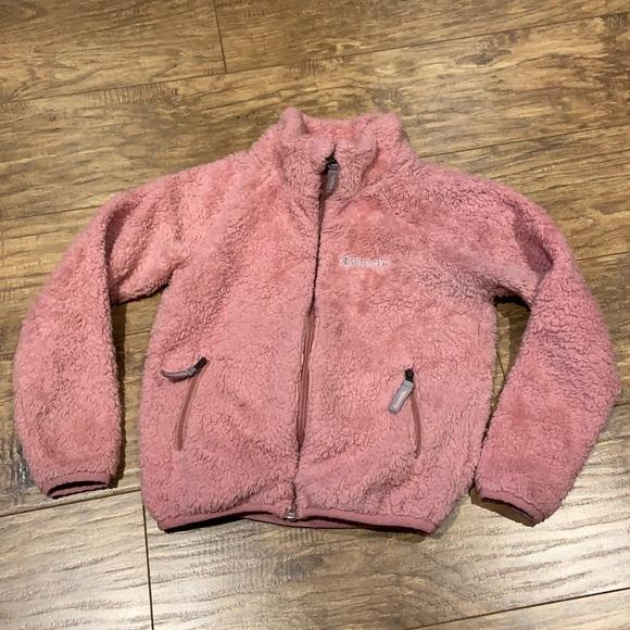 Kids soft pink Zip up cozy sweater